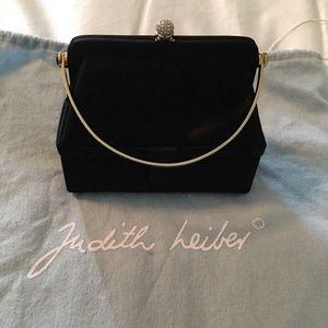 Judith Leiber Clutch Fancy Bag Crystal Rare Handle